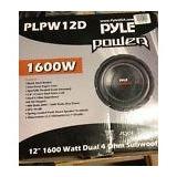 New! Pyle Plpw12d 12 1600w 4ohm Dvc Black Car Stereo Power