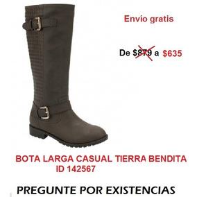 Bota Larga Casual Tierra Bendita 2a2w Id 142567