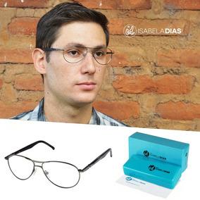 11c8a0291bade Armacao De Oculos De Grau Masculina Aviador - Óculos no Mercado ...