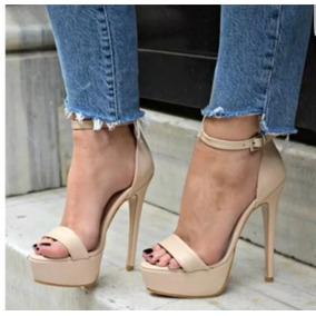 d5448e2d7 Salto 15 Cm Nude - Sapatos no Mercado Livre Brasil