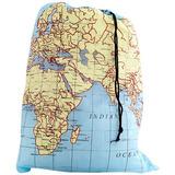 Kikkerland Travelsize Laundry Bag Mapa Del Mundo