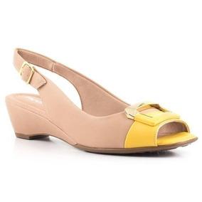 Chanel Anabela Médio Piccadilly Bege Amarelo