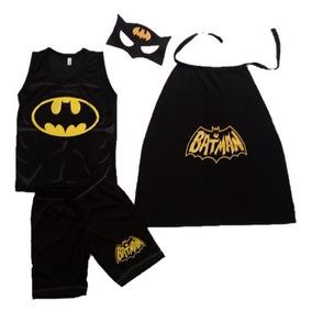 Fantasia Roupa Infantil 4 Peças - Batman- Tam 2 A 8