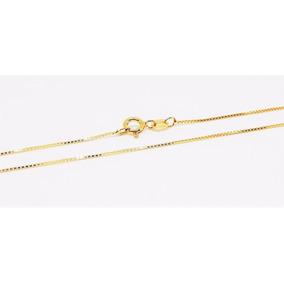 Gargantilha Corrente Veneziana Prata 925 Folheada Ouro 40cm