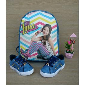 Combo Bolso Luna Azul + Calzado Tenis Moda Niña Color Azul a2fff882d4cc
