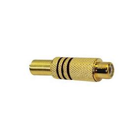 Plug Jack Rca Fêmea Gold Chip Sce Pacote 10uni - 062-9799
