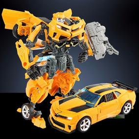 Boneco Transformers Bumblebee Transforma Robo Em Carro