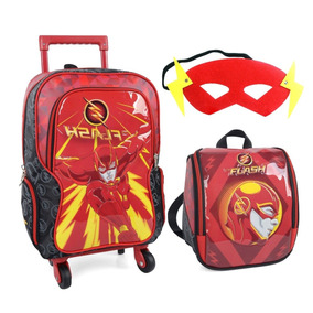 Kit Mochila De Rodinha Masculina The Flash 360 Ic32245