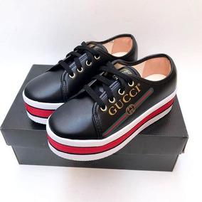 Tênis Feminino Gucci Ace Flatform Plataforma Top Barato dc7a1dd49e8