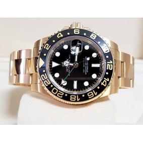 8f003c9e098 Rolex Gmt Master I I A O Ouro Misto Bezel Ceramica - Joias e ...