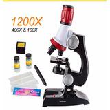 Microscopio Potente Con Accesorios Y Luz L 100x/400x/1200x