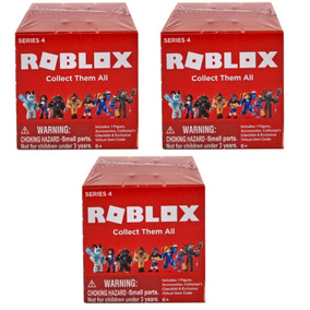 Kit C/ 3 Caixas Misteriosas Roblox Series 4 - 7 Cm Blind Bag