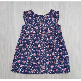 Vestido De Bebê Balonê - Vestidinho De Bebê - Azul Marinho