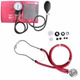 Kit Esfigmomanometro + Estetoscopio Rappaport Vinho Premium