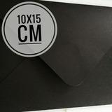 Sobres Negros O Color 10x15 Cm. (150 Unidades)