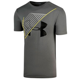 Playera Under Armour Warped Route 1314405-709 Gris Oi
