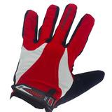 b0dcfc49be Luva Com Gel Vision Ciclismo Academia Vermelha Com Dedo