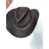 Sombrero De Cuero Legitimo Americano Esta Impecable 8d6559a6260