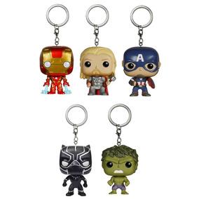 Kit Funko Pop Thor Hulk Capitão Homem De Ferro Pantera Negra