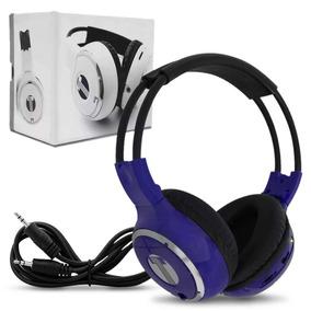 Fone De Ouvido Azul Sem Fio Infravermelho P2 Headphone