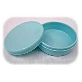 40 Latinhas Plastica 7x2 Lembrancinha - Azul Bebê