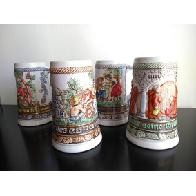 Caneca Cerveja Anheuser Busch Ed. Colecionador Kit 4 Unid.