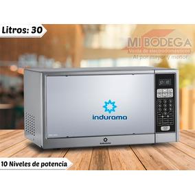 b02cddf05 Horno Microondas Indurama 30 Litros Cromado Panel Digital