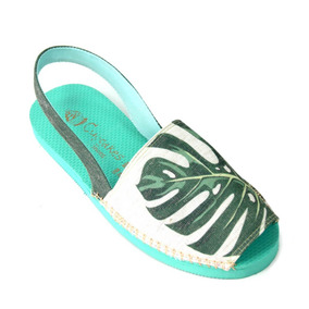 Sandália Avarca Botânica Mostera - Cup Shoes