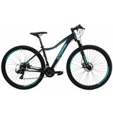 Bicicleta Oggi Aro 29 Float Sport 21v Feminina Preta / Azul