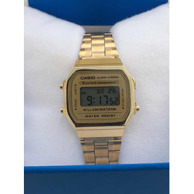 Reloj Casio Mini Dorado Vintage Dama A168