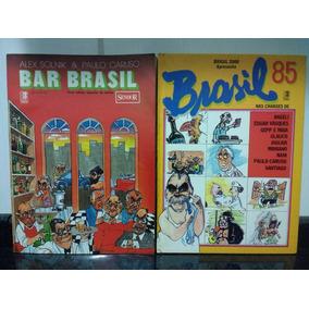 3 Livro Charges Bar Brasil + Brasil 85 + Era Uma Vez Fh Rjhm