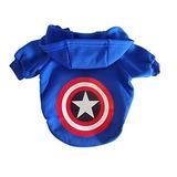 Konakoko Captain America Cute Pet Hoodie Ropa Para Mascot 00ecf2aa044