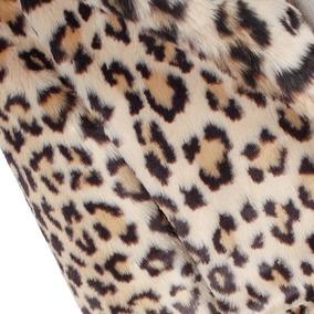 Abrigo De Manga Larga Con Capucha De Leopardo De Piel De