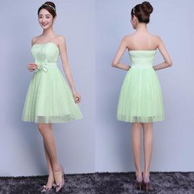9ed572e4a0 Vestidos Strapless Elegantes Cortos - Vestidos de Mujer en Mercado ...