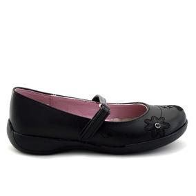 Zapato Escolar Tropicana Para Niña 75007 Negro [tro780]