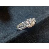 Anilllo De Plata 925 Numero 6 Con Diamante Zirconia Cúbica