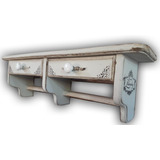 Repisa Doble Cajón Y Portatoallas Varios Colores Vintage