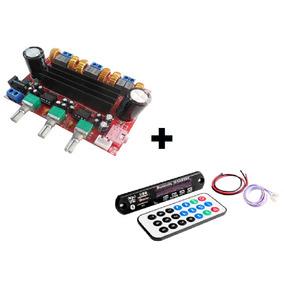 Placa Amplificador Digital 2.1 200w Compacto Bluetooth Mp3