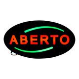 Placa De Led Letreiro Luminoso Efeito Neon Aberto Open