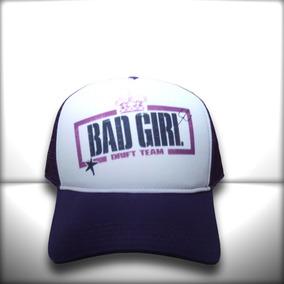 Boné Bad Girl Drift Team Preto Branco Trucker Frete Grátis 519c7f20d56