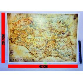 Skyrim - Pôster - Mapa - Completo