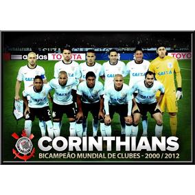 Quadro Corinthians Campeão Mundial Moldura 42x29cm