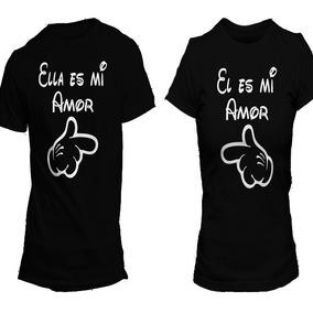 Par De Playeras Parejas Novios, Ella Y El Es Mi Amor
