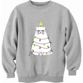 Sudadera Navidad Christmas Gato Luces Envío Gratis