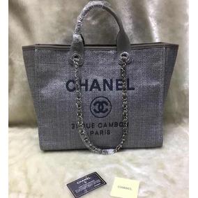 2288fcf21308c Bolsa Chanel Replica Perfeita - Bolsas Chanel de Lona Femininas no ...