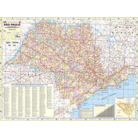 Mapa Do Estado De São Paulo - 120cm X 90cm Gigante