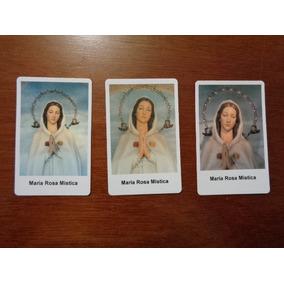 21c6f82f189 50 Tarjetas Virgen Rosa Mistica Estampas Enmicadas