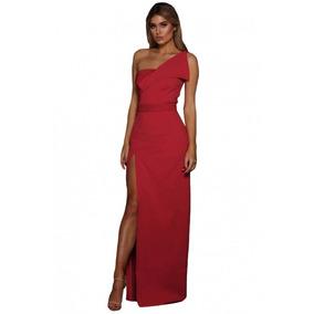 Sexy Glam Vestido De Fiesta Rojo Asimétrico . Envío Gratis!