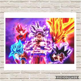 Poster Decorativo Dragon Ball Super Goku Todas As Fases #1