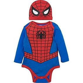 Disfraz Para Bebe De Spiderman Talla 0-3 Meses Marca Marvel 29840da1a126